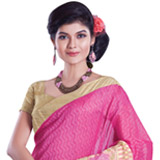 Psychedelic Bloom Chanderi Saree to Rajamundry