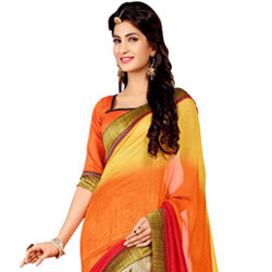 Lovely Designer Georgette Saree to Ludhiana