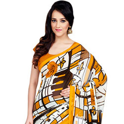 Majestic Designer Dani Georgette Saree to Cochin