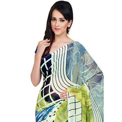Daunting Dani Georgette Saree to Yamunanagar