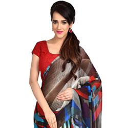 Smashing Dani Georgette Saree to Cochin