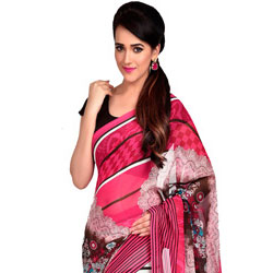 Spruce Glory Dani Georgette Saree to Cochin