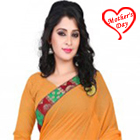 Endearing Pomp Georgette Saree to Agra