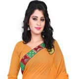 Endearing Pomp Georgette Saree to Mysore