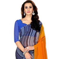 Exotic Marble Chiffon Designer Saree for Ladies to Ahmedabad