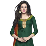 Popular Green Coloured Printed Pure Coton Patiala Suit to Puthiyangadi