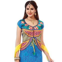 Extravagant Multicoloured Pure Cotton Printed Salwar Suit to Athani