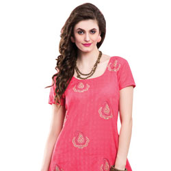 Charming Pink Colored Chiffon Embroidered Salwar Kameez to Chandigarh