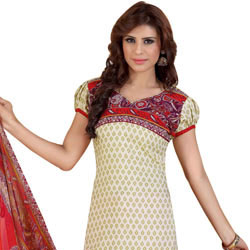 Amazing Siya Brand Collection of Chiffon N Crepe Printed Salwar Suit to Lakshadweep