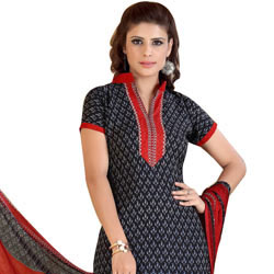 Exotic Printed Crepe and Chiffon Salwar Suit Made by Siya to Bhadrawati