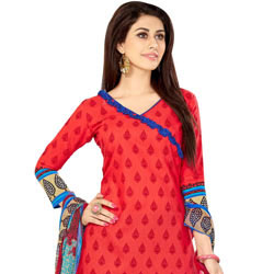Amazing Printed Cotton N Chiffon Salwar Suit of Welcome Collection to Jaipur