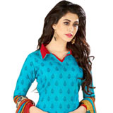 Smashing Welcome Chiffon and Cotton Fabric Salwar Suit in Printed Style to Varanasi