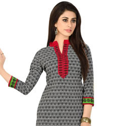 Elegant Cotton and Chiffon Printed Salwar Suit from Welcome to Cochin