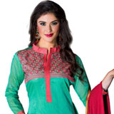 Appealing Printed Salwar in Green Colour Collection to Jammu