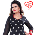 Resplendent Printed Cotton Black Salwar for Women to Ranchi