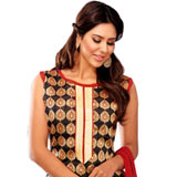 Dazzling Chanderi Suit to Bangalore