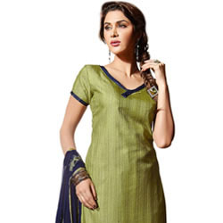 Glittering Enchant Santoon Silk Salwar Suit to Agra