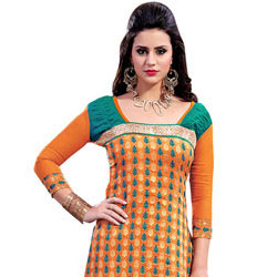 Decorous Elan Chanderi Salwar Suit to Purulia