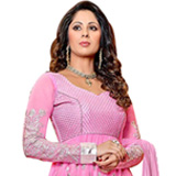 Wonderful Pink Pure Georgette Anarkali Salwar Suit to Purulia