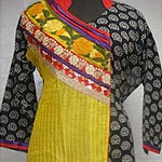 Enticing Multicoloured Cotton Salwar Kameez to Puzhal