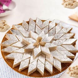 Mouth-watering Haldiram Kaju Katli to Ahmedabad