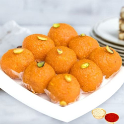 Motichur Ladoo  from Haldiram with free Roli Tilak and Chawal. to Anand