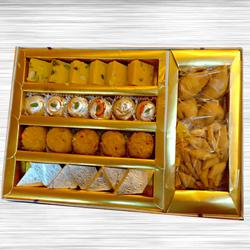 Delectable Assorted Sweets n Savory Combo Gift to Alapuzha