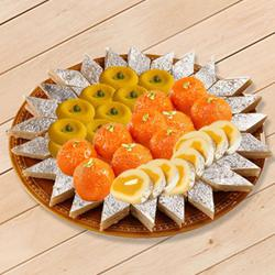 Delectable Sweets Platter 1kg from Bhikaram to Adipur