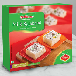 Haldirams Gluttony�s Cheer Milk Kalakand Sweets Box to Chandigarh