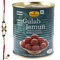 Cherish and Celebrate with Gulab Jamun from Haldiram with Free Rakhi, Roli , Tilak and Chawal  to Cochin