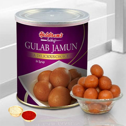 Gulab Jamun from Haldiram with free Roli Tilak and Chawal. to Aluva