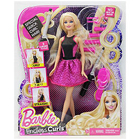 Exciting Blonde Hair Endless Curls Barbie Doll to Belgaum