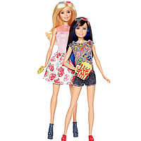 Superb Gift of Barbie N Skipper Doll Set for Babies to Bihar
