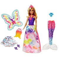 Stunning 3-in-1 Rainbow Theme Barbie Doll Set for Babies from Mattel to Bihar