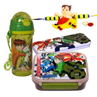 Go-to-School Set from Ben 10 with Ben 10 Rakhi and Roli Tilak Chawal to Ariyalur