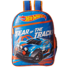 Attractive Hot Wheels Design School Bag in Blue N Orange Color to Hyderabad