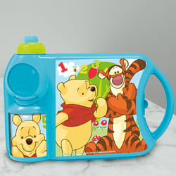 Amazing Disney Winnie the Pooh Canteen Set of Tiffin Box n Bottle to Adipur