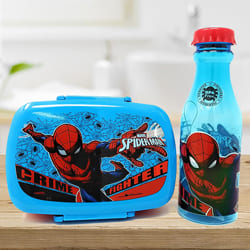 Exclusive Spiderman Canteen Set of Water Bottle n Tiffin to Ahmedgarh