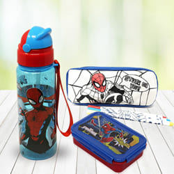 Marvelous Spiderman Stationery n Canteen Set to Allasandra