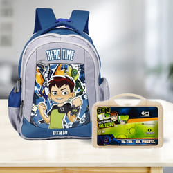 Amazing Ben 10 School Bag n Colouring Set to Ahmedgarh