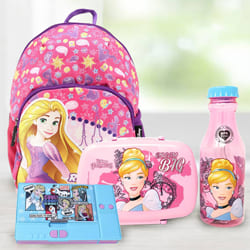 Lovely Cinderella Tiffin Combo, Rapunzel School Bag and Disney Pencil Box to Adoni