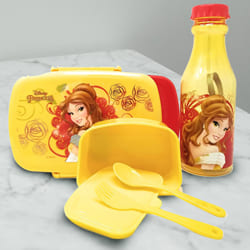Alluring Disney Belle Princess Lunch Box n Water Bottle to Adipur