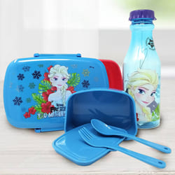 Remarkable Disney Frozen Lunch Box n Water Bottle Set to Adipur