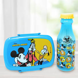 Attractive Mickey Mouse Lunch Box n Water Bottle Set to Allasandra