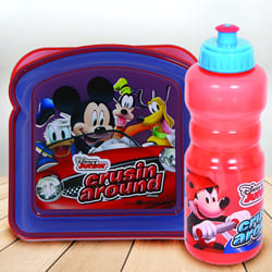 Exclusive Disney Mickey Mouse Sipper Bottle n Lunch Box to Adipur