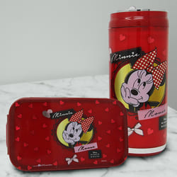 Mesmerizing Minnie Mouse Lunch Box n Sipper Bottle to Allasandra