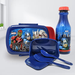 Remarkable Marvel Avengers Tiffin Box n Bottle Combo	 to Abohar