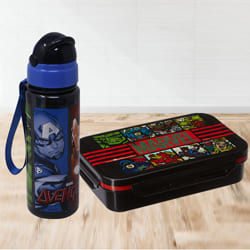 Amazing Avengers Tiffin Box n Sipper Bottle Combo to Allasandra