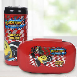 Exciting Mickey Mouse Lunch Box n Sipper Bottle Combo to Agra