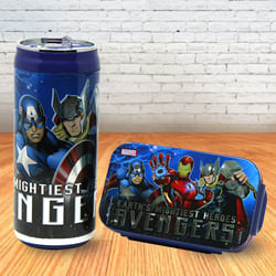 Lovely Disney and Marvel Lunch Box and Sipper Bottle to Ahmedgarh